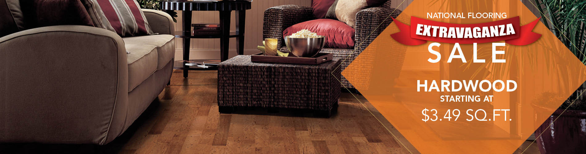 Hardwood starting at $3.49 sq.ft. during the National Flooring Extravaganza Sale at BK Floors To Go in Evansville